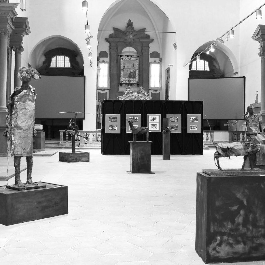 Mostra personale presso il Polo Museale di S.Agostino, città di Cortona, 2012. Courtesy Galleria Triphè.