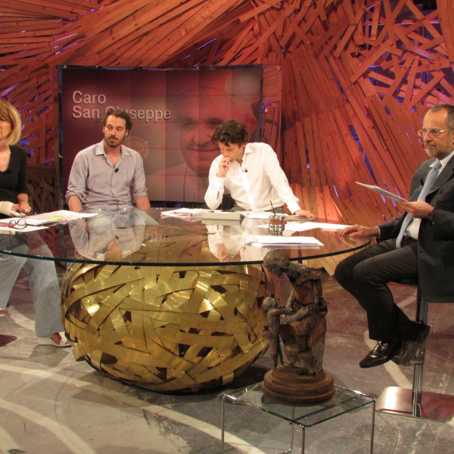 Diretta televisiva presso gli studios di TV2000